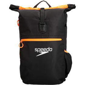 speedo Team III Rugzak 30l, black/fluo orange